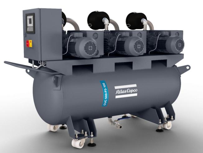 配有油润滑叶片泵的小型真空系统